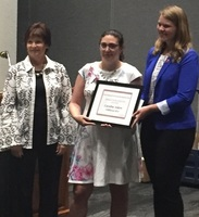 Askew receives finalist plaque for Missouri Teacher of the Year