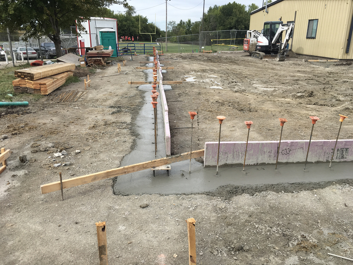 Footings are poured