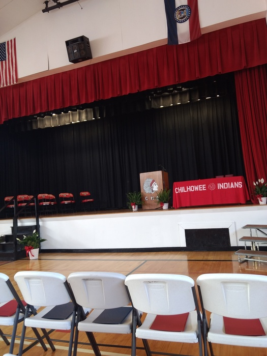 The view for tonight's graduates at 7pm.