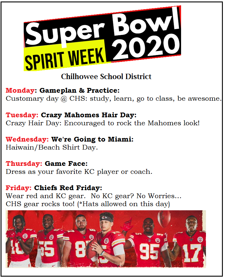 Super Bowl Spirit Week at CHS