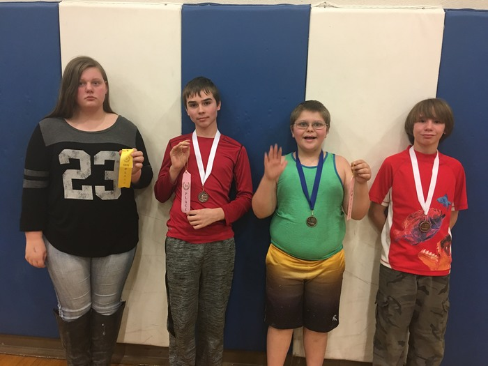 Medal and ribbon winners from Math Quest in Holden
