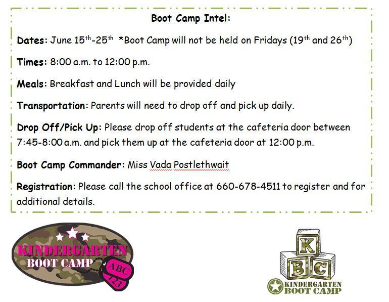 Kindergarten Boot Camp Flyer
