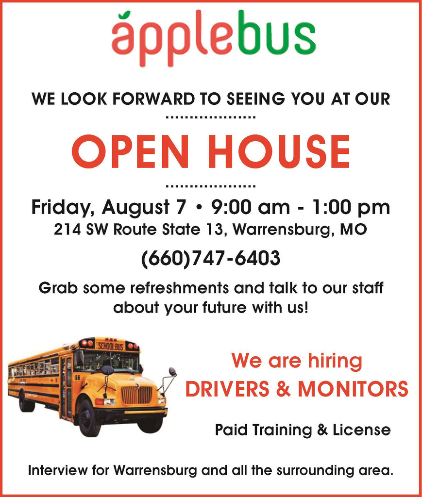 Apple Bus Open House